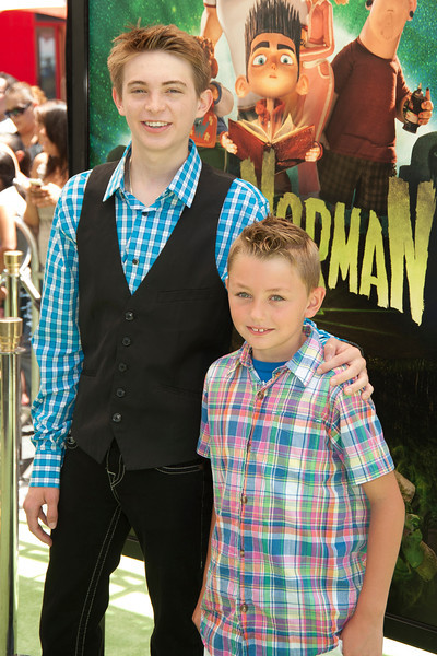UNIVERSAL CITY, CA - AUGUST 05: Actors Dylan Riley Snyder and Phoenix List arrive to the premiere of Focus Features' 'ParaNorman' at Universal CityWalk on Sunday, August 5, 2012 in Universal City, California. (Photo by Tom Sorensen/Moovieboy Pictures)