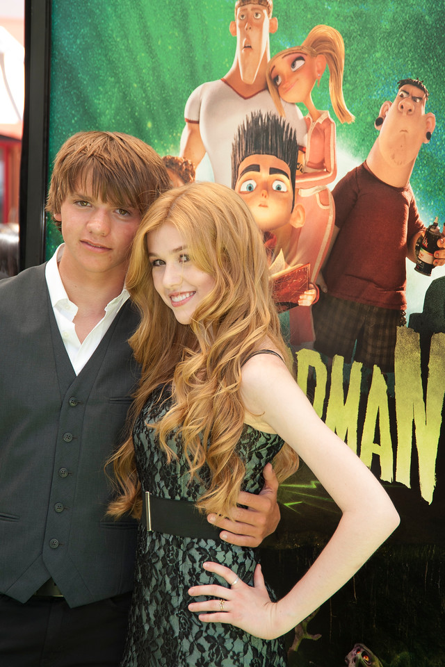 UNIVERSAL CITY, CA - AUGUST 05: Actors Joel Courtney and Katherine McNamara arrive at the premiere of Focus Features' 'ParaNorman' at Universal CityWalk on Sunday, August 5, 2012 in Universal City, California. (Photo by Tom Sorensen/Moovieboy Pictures)