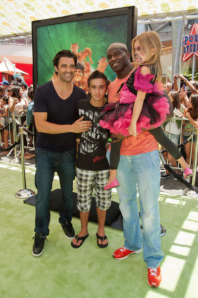UNIVERSAL CITY, CA - AUGUST 05: Actor Gilles Marini (L) son Georges Marini and guests attend the premiere of Focus Features' 'ParaNorman' at Universal CityWalk on Sunday, August 5, 2012 in Universal City, California. (Photo by Tom Sorensen/Moovieboy Pictures)