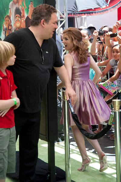 UNIVERSAL CITY, CA - AUGUST 05: Actor Jeff Garlin, guest and Anna Kendrick attend the premiere of Focus Features' 'ParaNorman' at Universal CityWalk on Sunday, August 5, 2012 in Universal City, California. (Photo by Tom Sorensen/Moovieboy Pictures)