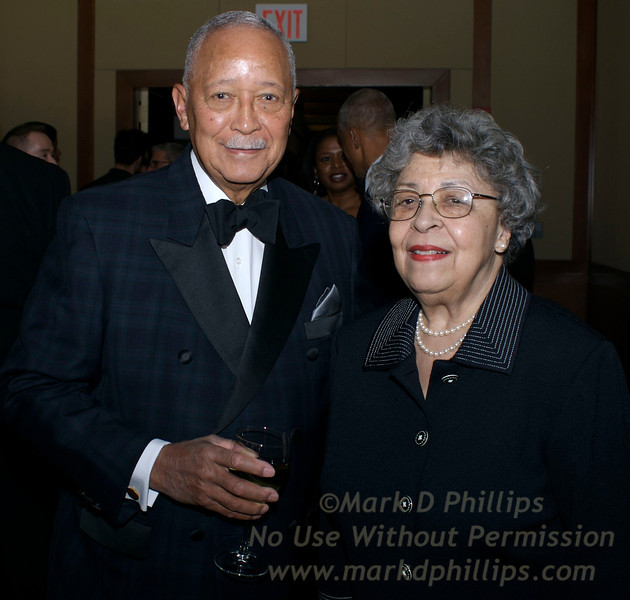 David Dinkins and wife, Joyce, at Sportsball 2008 at Chelsea Pier on April 24, 2008