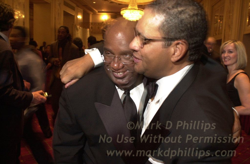 Al Roker and Bryant Gumbel at Sportsball 2002 held at the Waldorf Astoria on April 17, 2002