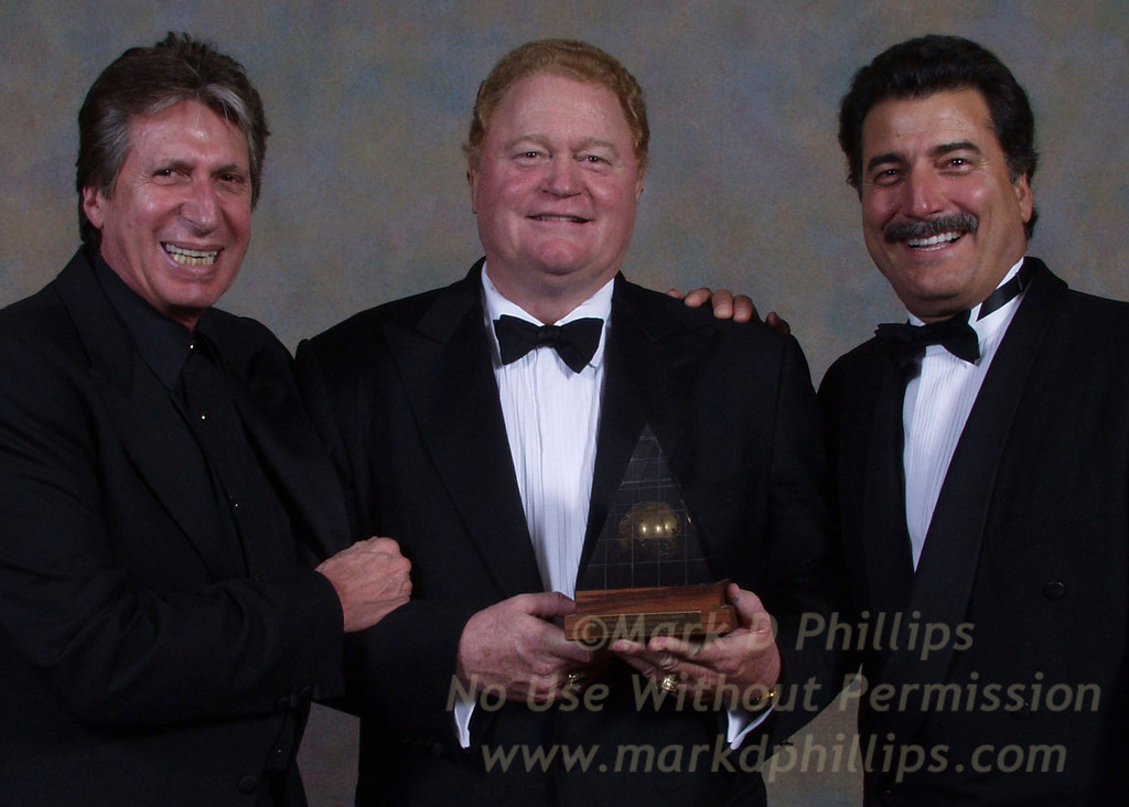 David Brenner and Keith Hernandez celebrate with Rusty Staub at Sportsball 2002, the annual award ceremony for the Arthur Ashe Institute for Urban Health. Staub, a former NY Met, received the Spirit of Sports and Service Award for his work with charity. The event was held at the Waldorf=Astoria in New York Wednesday.<br /> <br /> Photo by Mark D. Phillips