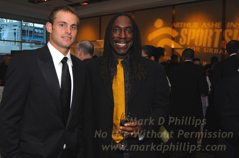 Andy Roddick and Boyd Tinsley at Sportsball 2007 at Chelsea Piers in New York City