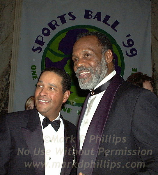 Danny Glover and Bryant Gumbel at Sportsball