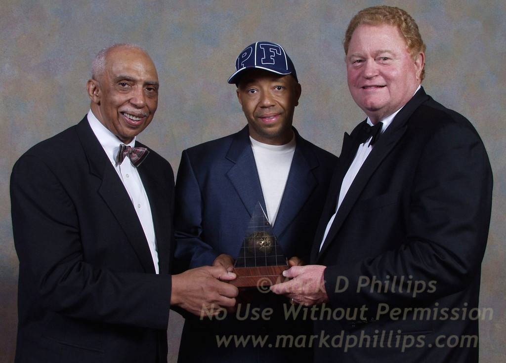 Dr. Gerald Deas, Russell Simmons, and Rusty Staub at Sportsball 2002 held at the Waldorf Astoria on April 17, 2002