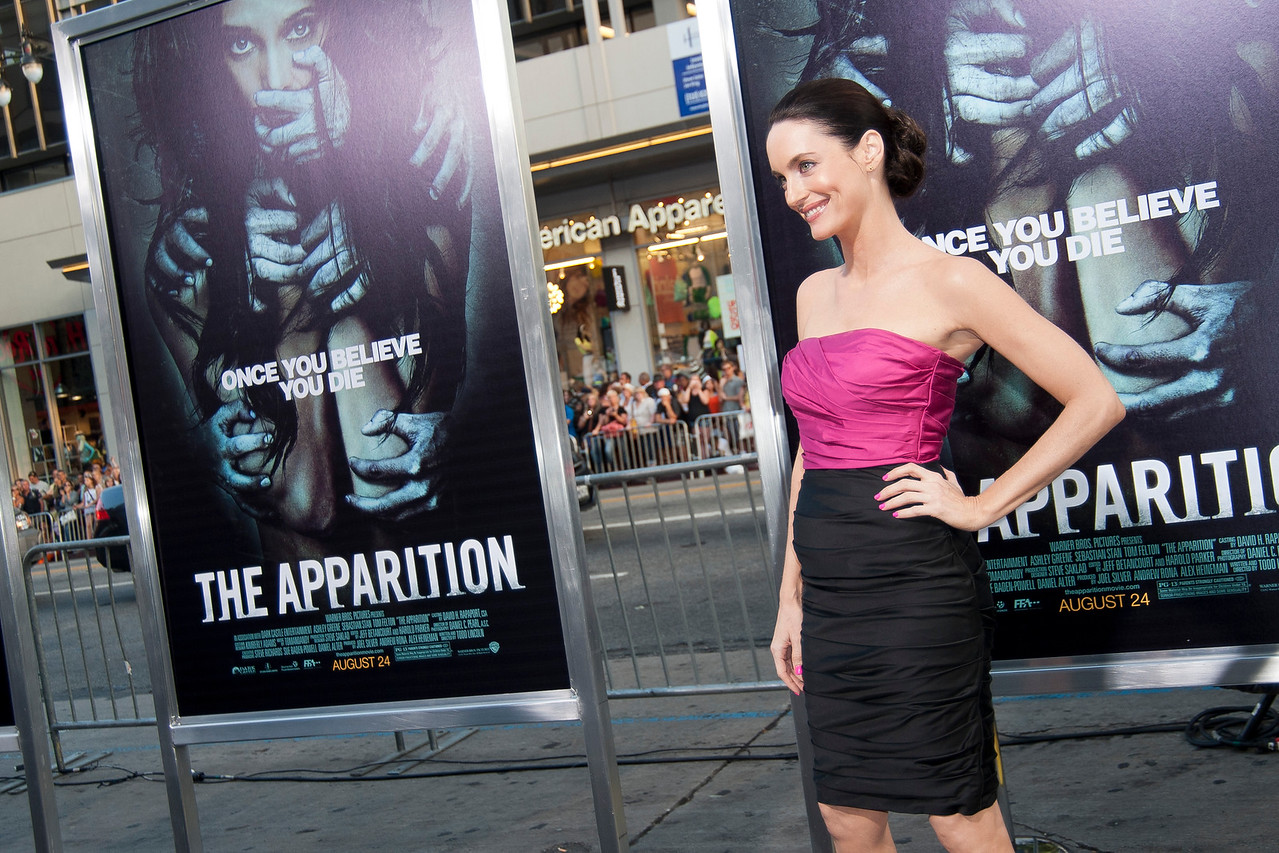 HOLLYWOOD, CA - AUGUST 23: Actress Alex Lombard arrives to the premiere of Warner Bros. Pictures' 'The Apparition' at Grauman's Chinese Theatre on Thursday, August 23, 2012 in Hollywood, California. (Photo by Tom Sorensen/Moovieboy Pictures)