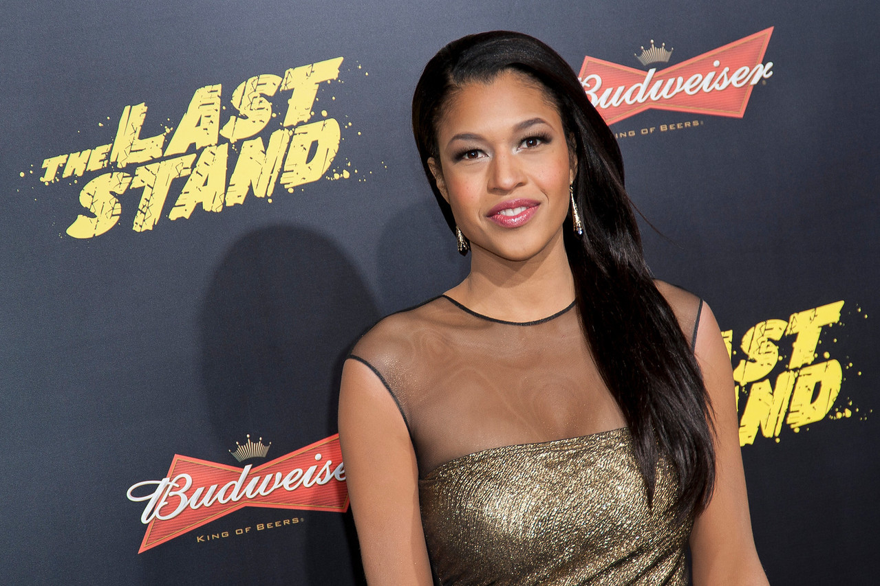 HOLLYWOOD, CA - JANUARY 14: Kali Hawk arrives at the premiere of Lionsgate Films' 'The Last Stand' at Grauman's Chinese Theatre on Monday, January 14, 2013 in Hollywood, California. (Photo by Tom Sorensen/Moovieboy Pictures)