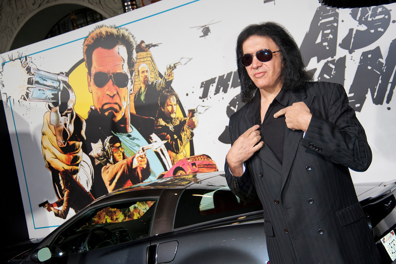 HOLLYWOOD, CA - JANUARY 14: Musician Gene Simmons arrives at the premiere of Lionsgate Films' 'The Last Stand' at Grauman's Chinese Theatre on Monday, January 14, 2013 in Hollywood, California. (Photo by Tom Sorensen/Moovieboy Pictures)