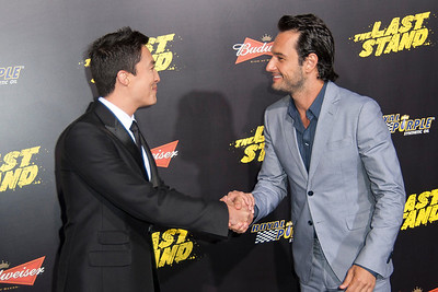 HOLLYWOOD, CA - JANUARY 14: Actors Daniel Henney and Rodrigo Santoro arrive at the premiere of Lionsgate Films' 'The Last Stand' at Grauman's Chinese Theatre on Monday, January 14, 2013 in Hollywood, California. (Photo by Tom Sorensen/Moovieboy Pictures)