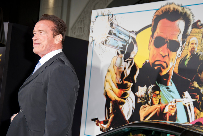 HOLLYWOOD, CA - JANUARY 14: Actor Arnold Schwarzenegger arrives at the premiere of Lionsgate Films' 'The Last Stand' at Grauman's Chinese Theatre on Monday, January 14, 2013 in Hollywood, California. (Photo by Tom Sorensen/Moovieboy Pictures)