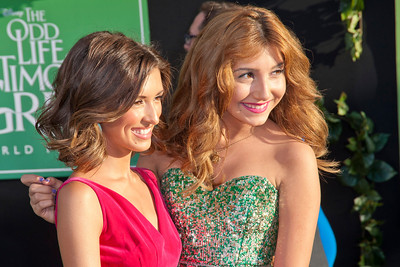 HOLLYWOOD, CA - AUGUST 06: Actresses India de Beaufort and Jennessa Rose arrives at the 'The Odd Life Of Timothy Green' - Los Angeles Premiere at the El Capitan Theatre on Monday, August 6, 2012 in Hollywood, California. (Photo by Tom Sorensen/Moovieboy Pictures)