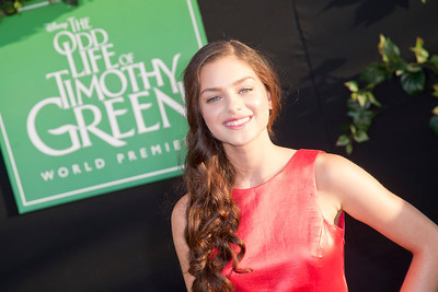 HOLLYWOOD, CA - AUGUST 06: Actress Odeya Rush arrives at the 'The Odd Life Of Timothy Green' - Los Angeles Premiere at the El Capitan Theatre on Monday, August 6, 2012 in Hollywood, California. (Photo by Tom Sorensen/Moovieboy Pictures)