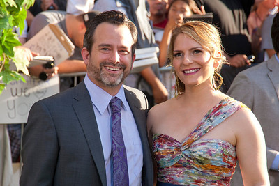 HOLLYWOOD, CA - AUGUST 06: Composer Geoff Zanelli (L) and wife Jen arrive at the 'The Odd Life Of Timothy Green' - Los Angeles Premiere at the El Capitan Theatre on Monday, August 6, 2012 in Hollywood, California. (Photo by Tom Sorensen/Moovieboy Pictures)