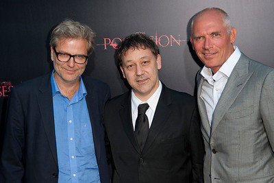 HOLLYWOOD, CA - AUGUST 28: Director Ole Bornedal, producer Sam Raimi, and executive producer Joe Drake arrive at the premiere of Lionsgate Films' 'The Possession' at ArcLight Cinemas on Tuesday, August 28, 2012 in Hollywood, California. (Photo by Tom Sorensen/Moovieboy Pictures)