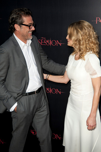 HOLLYWOOD, CA - AUGUST 28: Actors Jeffrey Dean Morgan and Kyra Sedgwick arrive at the premiere of Lionsgate Films' 'The Possession' at ArcLight Cinemas on Tuesday, August 28, 2012 in Hollywood, California. (Photo by Tom Sorensen/Moovieboy Pictures)