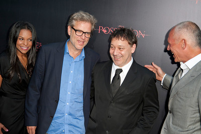HOLLYWOOD, CA - AUGUST 28: Executive producer Nicole Brown, director Ole Bornedal, producer Sam Raimi, and executive producer Joe Drake arrive at the premiere of Lionsgate Films' 'The Possession' at ArcLight Cinemas on Tuesday, August 28, 2012 in Hollywood, California. (Photo by Tom Sorensen/Moovieboy Pictures)