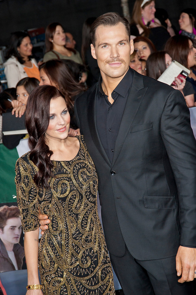 LOS ANGELES, CA - NOVEMBER 12: Actor Daniel Cudmore and guest arrive at the premiere of Summit Entertainment's 'The Twilight Saga: Breaking Dawn - Part 2' at Nokia Theatre L.A. Live on Monday, November 12, 2012 in Los Angeles, California. (Photo by Tom Sorensen/Moovieboy Pictures)