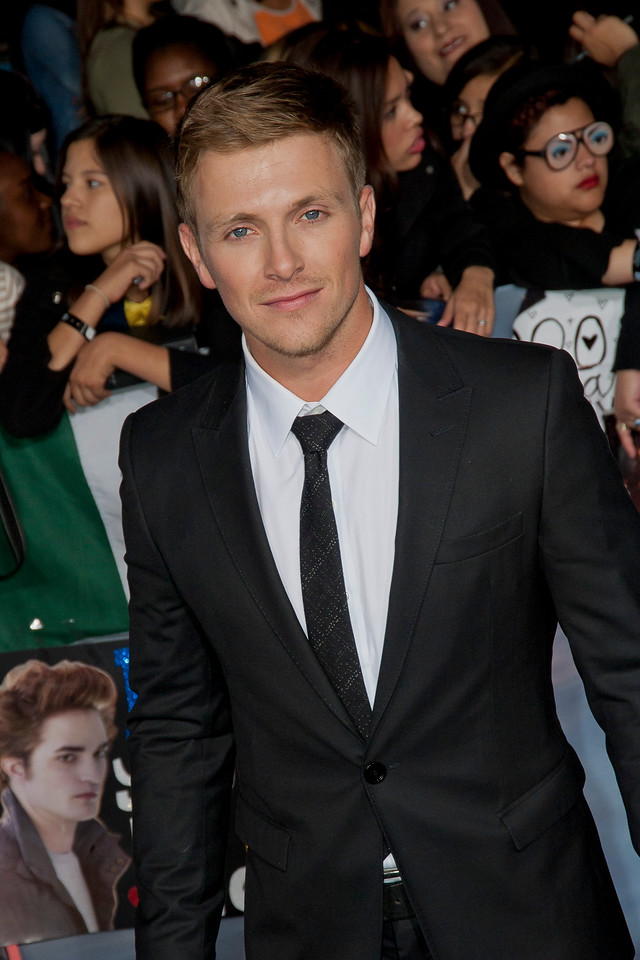 LOS ANGELES, CA - NOVEMBER 12: Actor Charlie Bewley arrives at the premiere of Summit Entertainment's 'The Twilight Saga: Breaking Dawn - Part 2' at Nokia Theatre L.A. Live on Monday, November 12, 2012 in Los Angeles, California. (Photo by Tom Sorensen/Moovieboy Pictures)