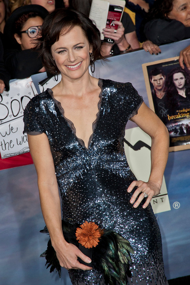 LOS ANGELES, CA - NOVEMBER 12: Actress Sarah Clarke arrives at the premiere of Summit Entertainment's 'The Twilight Saga: Breaking Dawn - Part 2' at Nokia Theatre L.A. Live on Monday, November 12, 2012 in Los Angeles, California. (Photo by Tom Sorensen/Moovieboy Pictures)