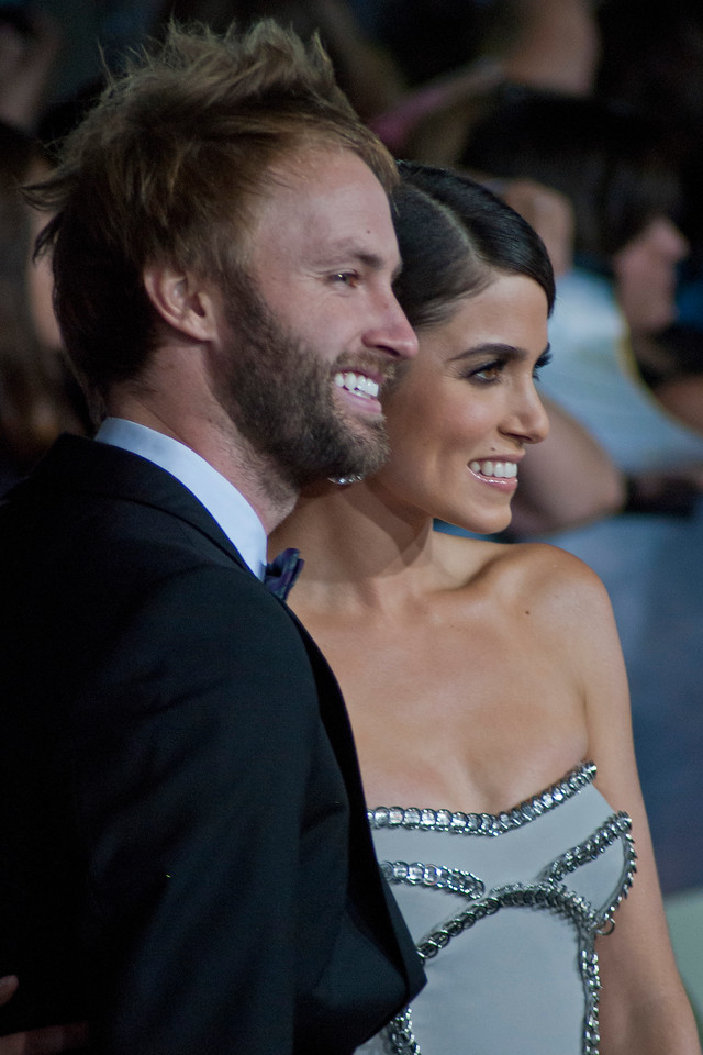 LOS ANGELES, CA - NOVEMBER 12: Actress Nikki Reed (R) and Paul McDonald arrive at the premiere of Summit Entertainment's 'The Twilight Saga: Breaking Dawn - Part 2' at Nokia Theatre L.A. Live on Monday, November 12, 2012 in Los Angeles, California. (Photo by Tom Sorensen/Moovieboy Pictures)