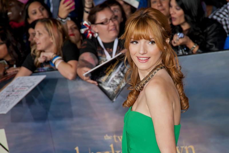 LOS ANGELES, CA - NOVEMBER 12: Actress Bella Thorne arrives at the premiere of Summit Entertainment's 'The Twilight Saga: Breaking Dawn - Part 2' at Nokia Theatre L.A. Live on Monday, November 12, 2012 in Los Angeles, California. (Photo by Tom Sorensen/Moovieboy Pictures)