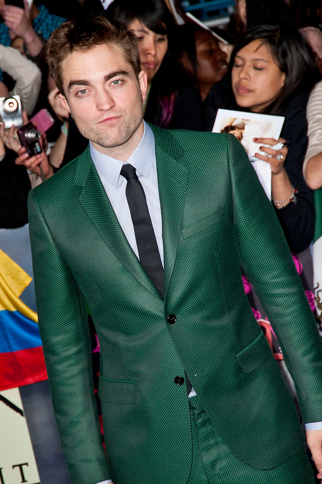 LOS ANGELES, CA - NOVEMBER 12: Actor Robert Pattinson arrives at the premiere of Summit Entertainment's 'The Twilight Saga: Breaking Dawn - Part 2' at Nokia Theatre L.A. Live on Monday, November 12, 2012 in Los Angeles, California. (Photo by Tom Sorensen/Moovieboy Pictures)