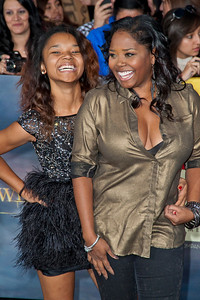 LOS ANGELES, CA - NOVEMBER 12: Actress Shar Jackson and daughter arrives at the premiere of Summit Entertainment's 'The Twilight Saga: Breaking Dawn - Part 2' at Nokia Theatre L.A. Live on Monday, November 12, 2012 in Los Angeles, California. (Photo by Tom Sorensen/Moovieboy Pictures)