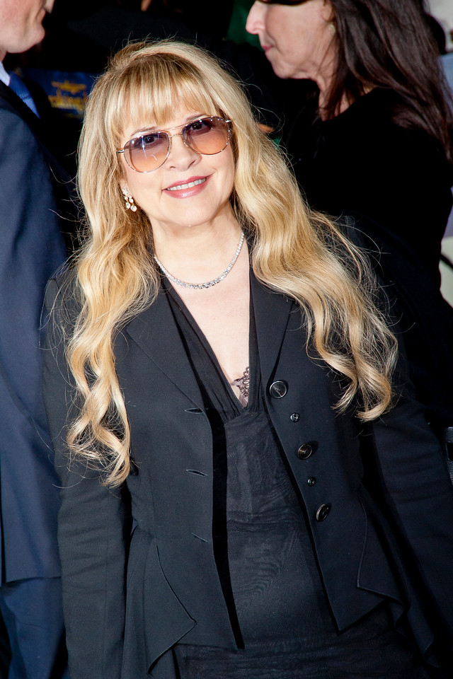 LOS ANGELES, CA - NOVEMBER 12: Musician Stevie Nicks arrives at the premiere of Summit Entertainment's 'The Twilight Saga: Breaking Dawn - Part 2' at Nokia Theatre L.A. Live on Monday, November 12, 2012 in Los Angeles, California. (Photo by Tom Sorensen/Moovieboy Pictures)