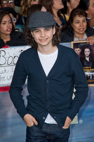 LOS ANGELES, CA - NOVEMBER 12: Actor Max Burkholder arrives at the premiere of Summit Entertainment's 'The Twilight Saga: Breaking Dawn - Part 2' at Nokia Theatre L.A. Live on Monday, November 12, 2012 in Los Angeles, California. (Photo by Tom Sorensen/Moovieboy Pictures)