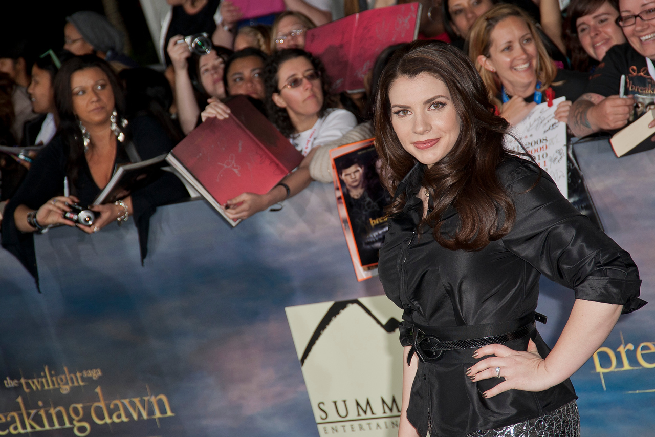LOS ANGELES, CA - NOVEMBER 12: Author Stephenie Meyer arrives at the premiere of Summit Entertainment's 'The Twilight Saga: Breaking Dawn - Part 2' at Nokia Theatre L.A. Live on Monday, November 12, 2012 in Los Angeles, California. (Photo by Tom Sorensen/Moovieboy Pictures)