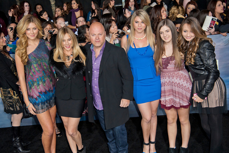 LOS ANGELES, CA - NOVEMBER 12: Actor Michael Chiklis and family arrive at the premiere of Summit Entertainment's 'The Twilight Saga: Breaking Dawn - Part 2' at Nokia Theatre L.A. Live on Monday, November 12, 2012 in Los Angeles, California. (Photo by Tom Sorensen/Moovieboy Pictures)