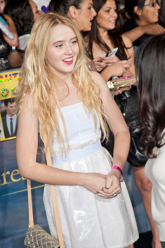 LOS ANGELES, CA - NOVEMBER 12: Actress Kathryn Newton arrives at the premiere of Summit Entertainment's 'The Twilight Saga: Breaking Dawn - Part 2' at Nokia Theatre L.A. Live on Monday, November 12, 2012 in Los Angeles, California. (Photo by Tom Sorensen/Moovieboy Pictures)