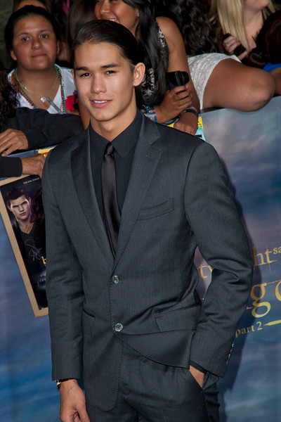 LOS ANGELES, CA - NOVEMBER 12: Actor BooBoo Stewart arrives at the premiere of Summit Entertainment's 'The Twilight Saga: Breaking Dawn - Part 2' at Nokia Theatre L.A. Live on Monday, November 12, 2012 in Los Angeles, California. (Photo by Tom Sorensen/Moovieboy Pictures)