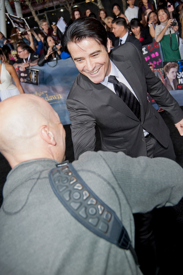 LOS ANGELES, CA - NOVEMBER 12: Actor Goran Visnjic arrives at the premiere of Summit Entertainment's 'The Twilight Saga: Breaking Dawn - Part 2' at Nokia Theatre L.A. Live on Monday, November 12, 2012 in Los Angeles, California. (Photo by Tom Sorensen/Moovieboy Pictures)
