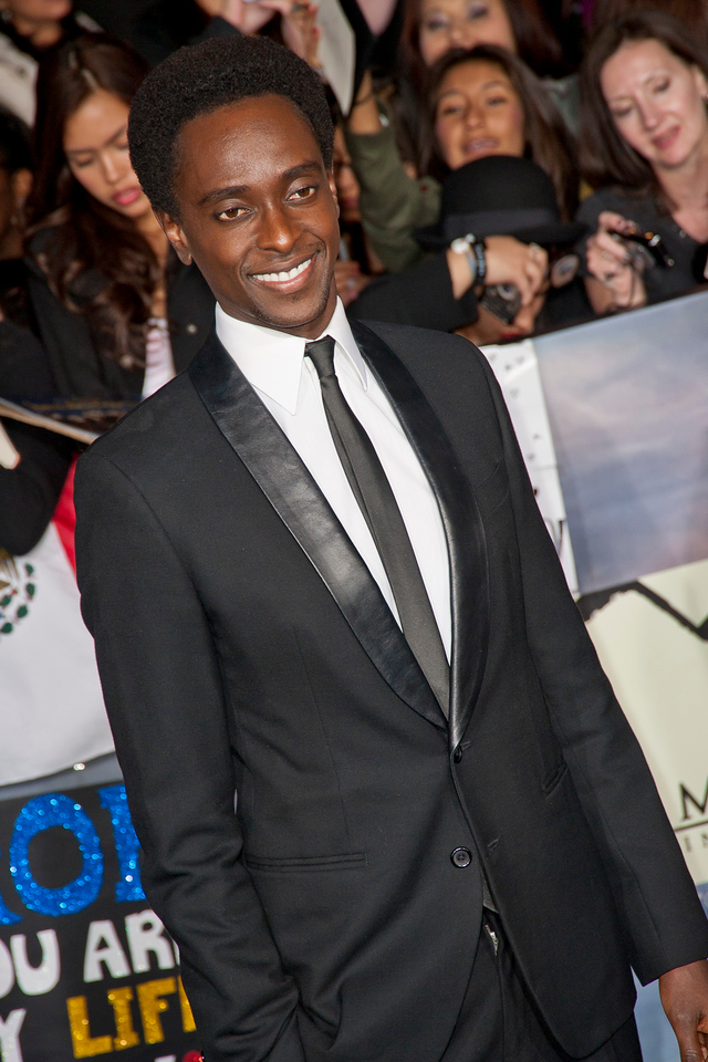 LOS ANGELES, CA - NOVEMBER 12: Actor Edi Gathegi arrives at the premiere of Summit Entertainment's 'The Twilight Saga: Breaking Dawn - Part 2' at Nokia Theatre L.A. Live on Monday, November 12, 2012 in Los Angeles, California. (Photo by Tom Sorensen/Moovieboy Pictures)