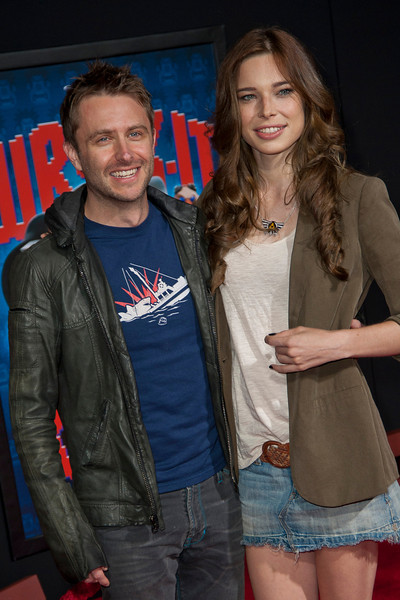 HOLLYWOOD, CA - OCTOBER 29: Chris Hardwick and Chloe Dykstra at the Premiere Of Walt Disney Animation Studios' 'Wreck-It Ralph' - Red Carpet at the El Capitan Theatre on Monday, October 29, 2012 in Hollywood, California. (Photo by Tom Sorensen/Moovieboy Pictures)