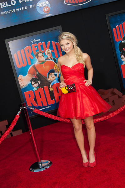 HOLLYWOOD, CA - OCTOBER 29: Actress Stefanie Scott at the Premiere Of Walt Disney Animation Studios' 'Wreck-It Ralph' - Red Carpet at the El Capitan Theatre on Monday, October 29, 2012 in Hollywood, California. (Photo by Tom Sorensen/Moovieboy Pictures)