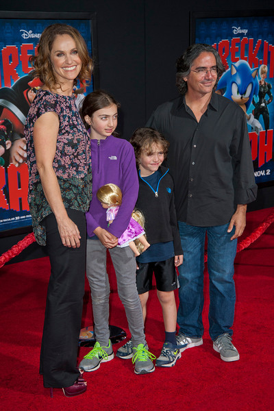 HOLLYWOOD, CA - OCTOBER 29: Actress Amy Brenneman and family at the Premiere Of Walt Disney Animation Studios' 'Wreck-It Ralph' - Red Carpet at the El Capitan Theatre on Monday, October 29, 2012 in Hollywood, California. (Photo by Tom Sorensen/Moovieboy Pictures)