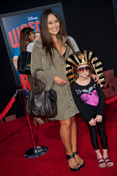 HOLLYWOOD, CA - OCTOBER 29: Actress Tia Carrere and Bianca Wakelin at the Premiere Of Walt Disney Animation Studios' 'Wreck-It Ralph' - Red Carpet at the El Capitan Theatre on Monday, October 29, 2012 in Hollywood, California. (Photo by Tom Sorensen/Moovieboy Pictures)
