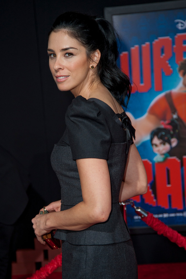 HOLLYWOOD, CA - OCTOBER 29: Actress Sarah Silverman at the Premiere Of Walt Disney Animation Studios' 'Wreck-It Ralph' - Red Carpet at the El Capitan Theatre on Monday, October 29, 2012 in Hollywood, California. (Photo by Tom Sorensen/Moovieboy Pictures)