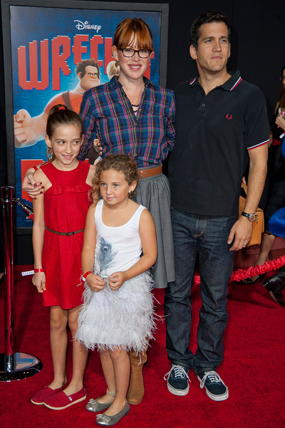 HOLLYWOOD, CA - OCTOBER 29: Actress Molly Ringwald and family at the Premiere Of Walt Disney Animation Studios' 'Wreck-It Ralph' - Red Carpet at the El Capitan Theatre on Monday, October 29, 2012 in Hollywood, California. (Photo by Tom Sorensen/Moovieboy Pictures)