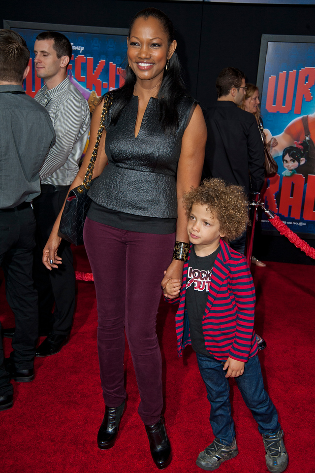HOLLYWOOD, CA - OCTOBER 29: Actress Garcelle Beauvais and son at the Premiere Of Walt Disney Animation Studios' 'Wreck-It Ralph' - Red Carpet at the El Capitan Theatre on Monday, October 29, 2012 in Hollywood, California. (Photo by Tom Sorensen/Moovieboy Pictures)