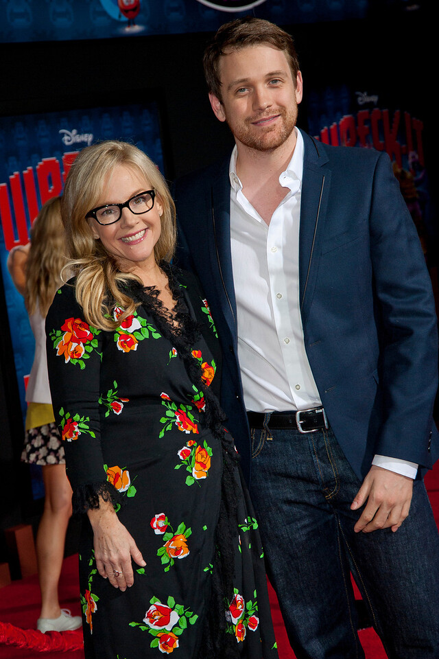 HOLLYWOOD, CA - OCTOBER 29: Actors Rachael Harris and Michael Arden at the Premiere Of Walt Disney Animation Studios' 'Wreck-It Ralph' - Red Carpet at the El Capitan Theatre on Monday, October 29, 2012 in Hollywood, California. (Photo by Tom Sorensen/Moovieboy Pictures)