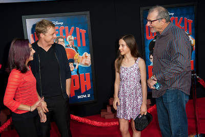 HOLLYWOOD, CA - OCTOBER 29: Actor Alan Tudyk, guest, actor Ed O'Neill and Sophia O'Neill  at the Premiere Of Walt Disney Animation Studios' 'Wreck-It Ralph' - Red Carpet at the El Capitan Theatre on Monday, October 29, 2012 in Hollywood, California. (Photo by Tom Sorensen/Moovieboy Pictures)