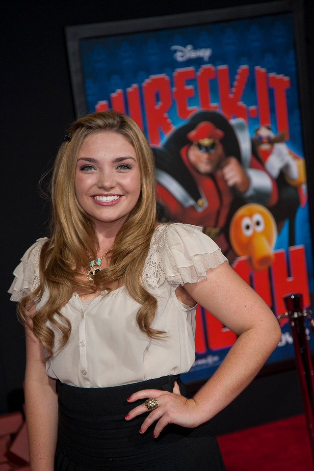 HOLLYWOOD, CA - OCTOBER 29: Kailey Swanson at the Premiere Of Walt Disney Animation Studios' 'Wreck-It Ralph' - Red Carpet at the El Capitan Theatre on Monday, October 29, 2012 in Hollywood, California. (Photo by Tom Sorensen/Moovieboy Pictures)