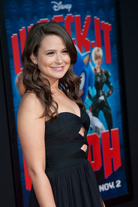 HOLLYWOOD, CA - OCTOBER 29: Actress Katie Lowes at the Premiere Of Walt Disney Animation Studios' 'Wreck-It Ralph' - Red Carpet at the El Capitan Theatre on Monday, October 29, 2012 in Hollywood, California. (Photo by Tom Sorensen/Moovieboy Pictures)