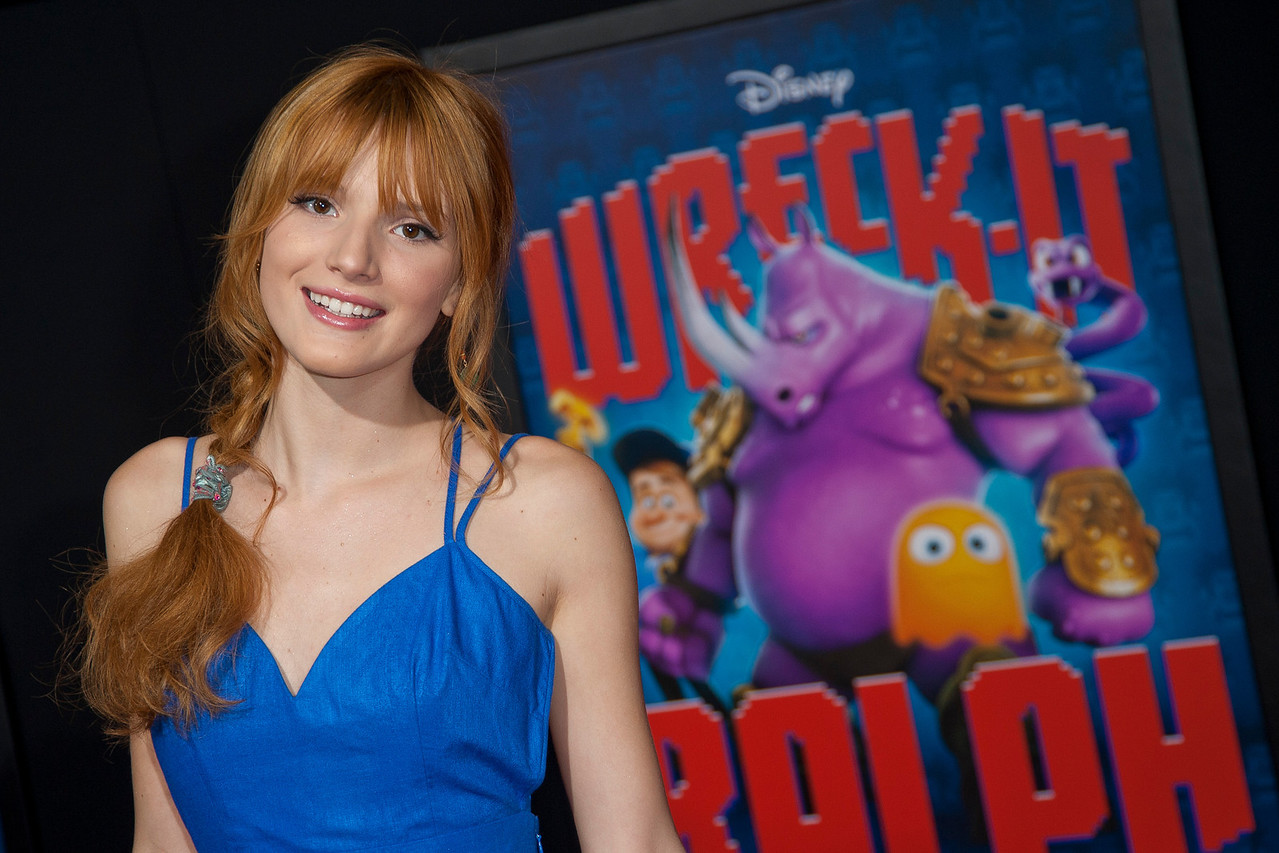 HOLLYWOOD, CA - OCTOBER 29: Actress Bella Thorne at the Premiere Of Walt Disney Animation Studios' 'Wreck-It Ralph' - Red Carpet at the El Capitan Theatre on Monday, October 29, 2012 in Hollywood, California. (Photo by Tom Sorensen/Moovieboy Pictures)