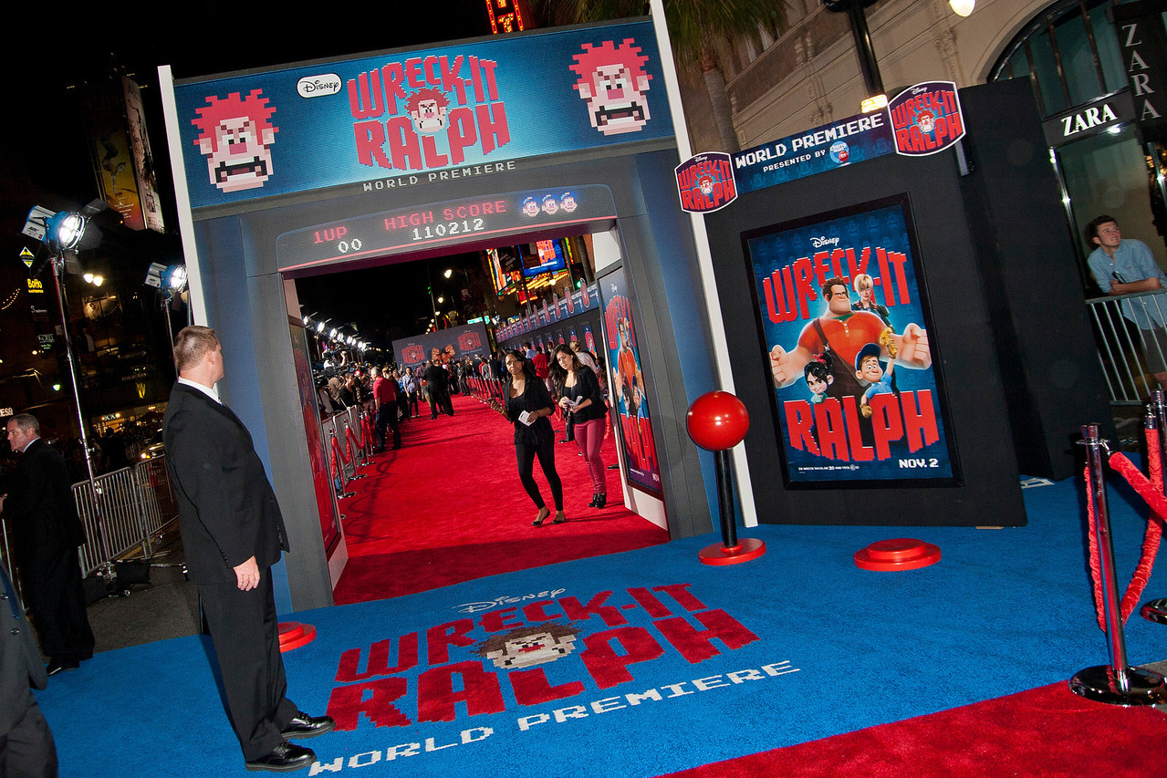 HOLLYWOOD, CA - OCTOBER 29: General atmosphere at the Premiere Of Walt Disney Animation Studios' 'Wreck-It Ralph' - Red Carpet at the El Capitan Theatre on Monday, October 29, 2012 in Hollywood, California. (Photo by Tom Sorensen/Moovieboy Pictures)