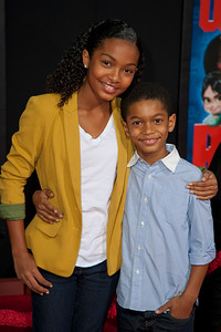 HOLLYWOOD, CA - OCTOBER 29: Actress Yara Shahidi and actor Sayeed Shahidi at the Premiere Of Walt Disney Animation Studios' 'Wreck-It Ralph' - Red Carpet at the El Capitan Theatre on Monday, October 29, 2012 in Hollywood, California. (Photo by Tom Sorensen/Moovieboy Pictures)